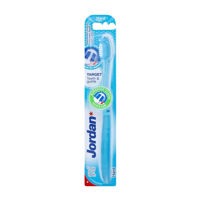 Зубная щётка Jordan Target Teeth & Gums Hard Жёсткая зубная щётка для бережной чистки зубов и отчистки десен фото