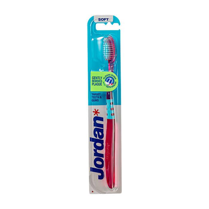 Купить Зубная щётка Jordan Target Teeth & Gums Soft, Мягкая зубная щётка для бережной чистки зубов и отчистки десен, Норвегия