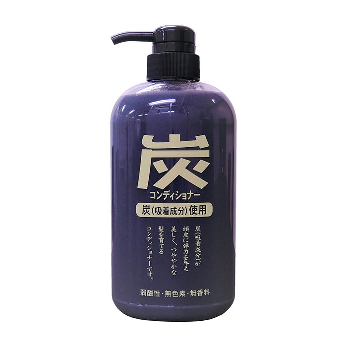 Купить Кондиционер для волос Junlove Charcoal Conditioner, Балансирующий кондиционер для волос и кожи головы с древесным углём, Япония
