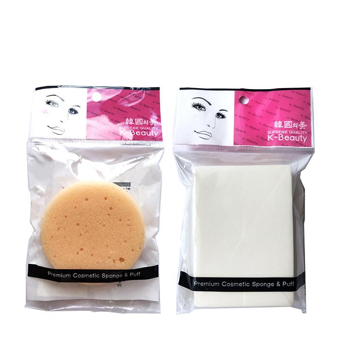 Набор спонжей для лица K-Beauty Скрабирующий + Прямоугольник (8 сегментов), Набор из скрабирующего спонжа для очищения кожи и прямоугольных спонжей для нанесения тона, Южная Корея  - Купить