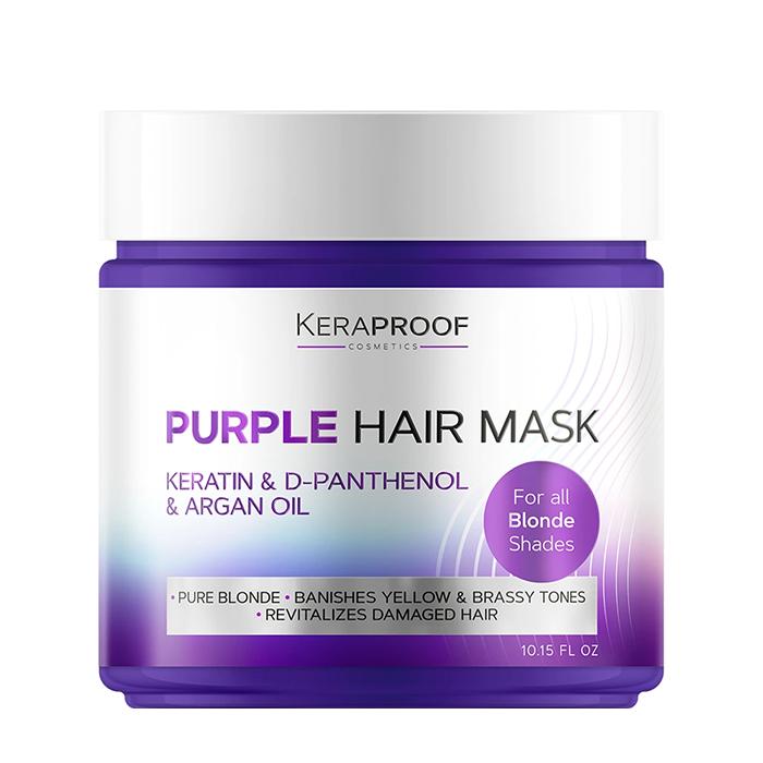 Купить Маска для волос Keraproof Purple Hair Mask, Фиолетовая тонирующая маска для комплексного ухода за обесцвеченными волосами, Россия