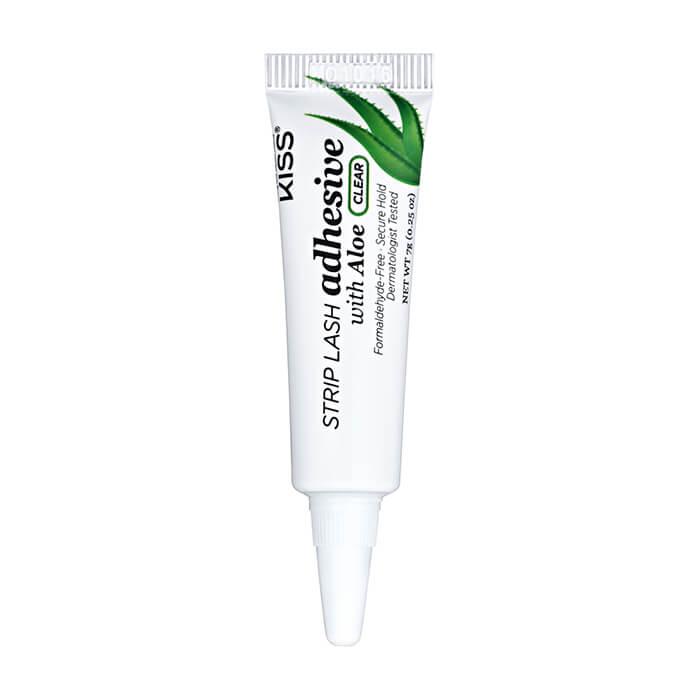 Клей для ресниц Kiss Strip Lash Adhesive with Aloe Clear (KPLGL05) Клей для накладных ресниц прозрачный с экстрактом алоэ фото