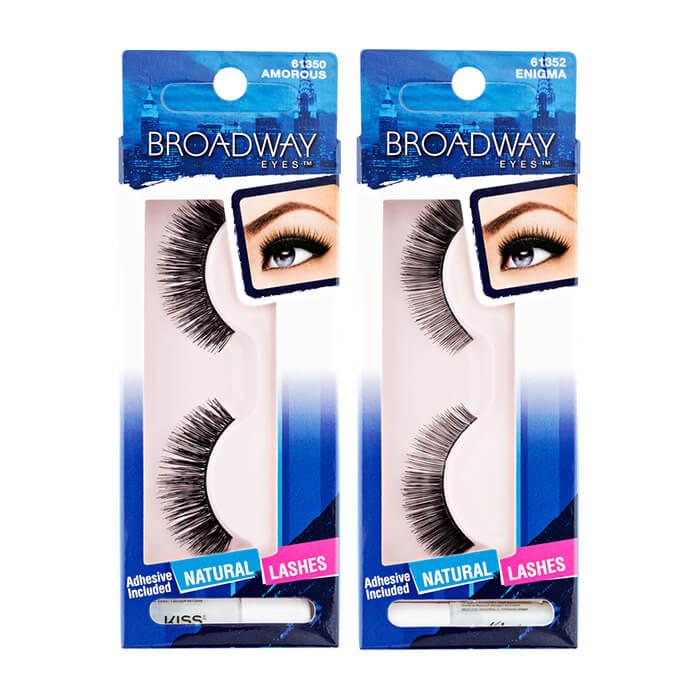 Купить Накладные ресницы Kiss Broadway Eyelashes, Накладные ресницы для преображения внешности и придания взгляду особого шарма, США