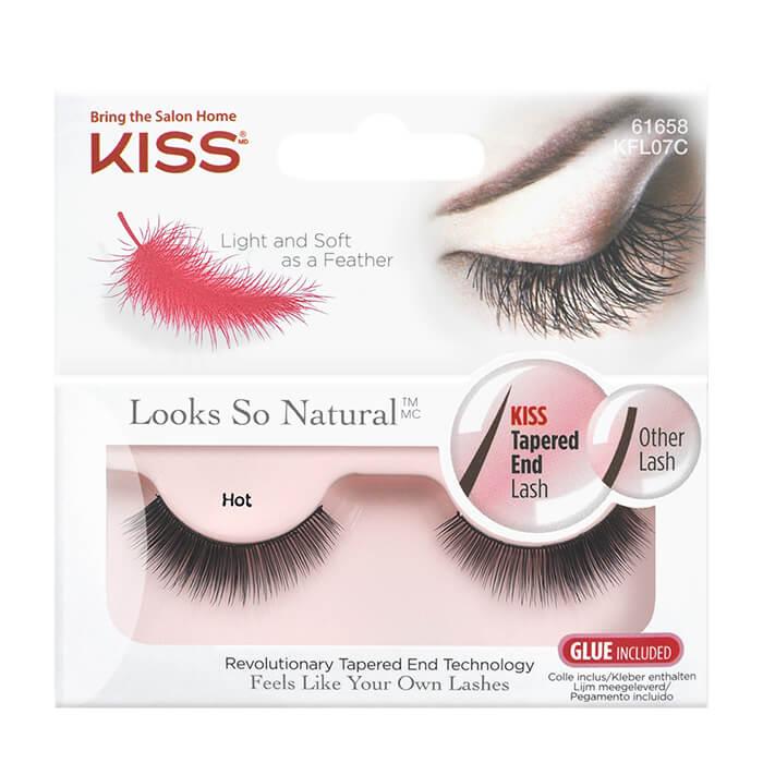 Накладные ресницы Kiss Looks so Natural Eyelashes Hot (KFL07C), Накладные ресницы на особый случай для эффекта объемных и супер-густых ресниц, США  - Купить