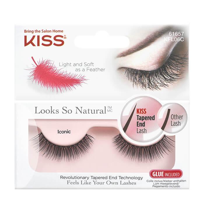 Купить Накладные ресницы Kiss Looks so Natural Eyelashes Iconic (KFL06C), Эффектные накладные ресницы для создания взгляда голливудской звезды, США
