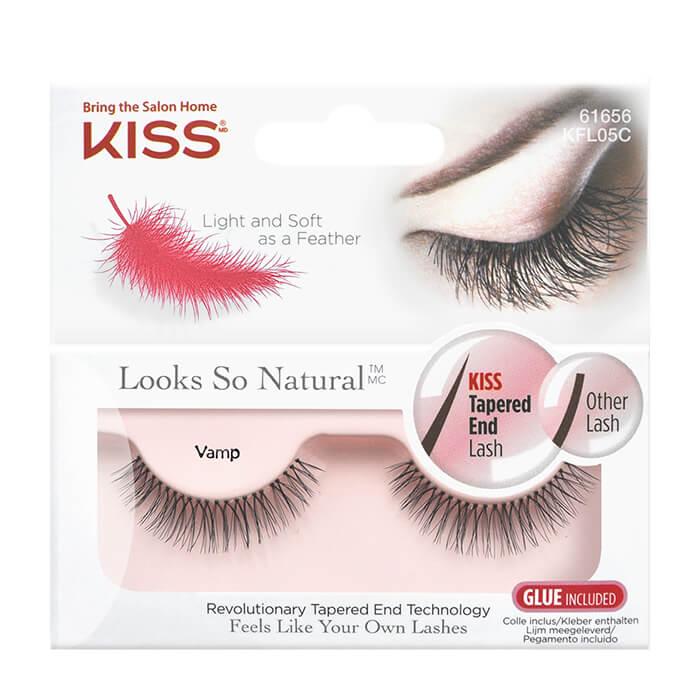 Купить Накладные ресницы Kiss Looks so Natural Eyelashes Vamp (KFL05C), Объемные накладные ресницы для романтических свиданий и выхода в свет, США