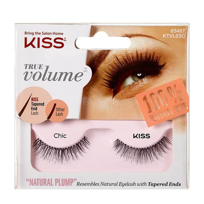 Купить Накладные ресницы Kiss True Volume Lash Chic (KTVL03C), Реснички из натурального волоса для подчеркивания выразительности и объема ресниц, США