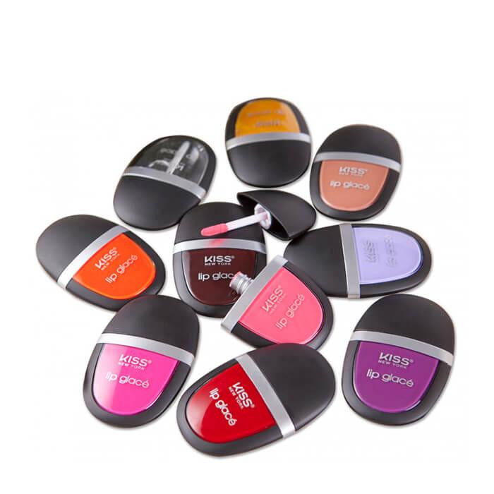 Помада для губ Kiss Lip Glace Лаковая помада для супер-стойкого насыщенного цвета и соблазнительного зеркального блеска фото