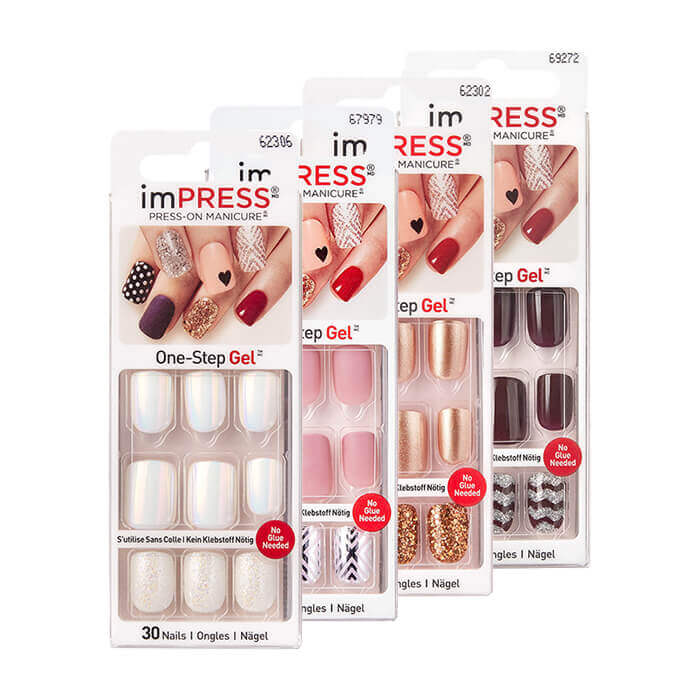 Твердый лак для ногтей Kiss Impress Press-On Manicure Эластичный твердый лак для создания идеального и модного маникюра за 5 минут фото