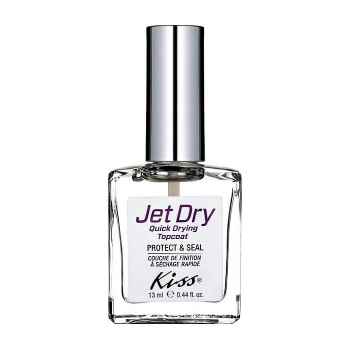 Купить Верхнее покрытие для ногтей Kiss Jet Dry Quick Drying Topcoat (KTR19F), Средство для быстрой сушки лака и придания маникюру блеска и стойкости, США