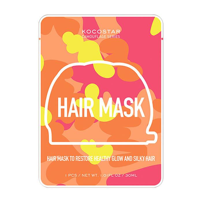 Купить Маска для волос Kocostar Camouflage Hair Mask, Маска-шапочка с концентрированной сывороткой для блеска и гладкости волос, Южная Корея