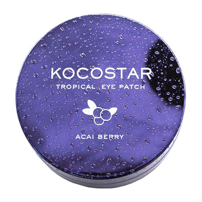 Купить Гидрогелевые патчи Kocostar Tropical Eye Patch Acai Berry, Гидрогелевые патчи для кожи вокруг глаз с экстрактом ягод Асаи, Южная Корея