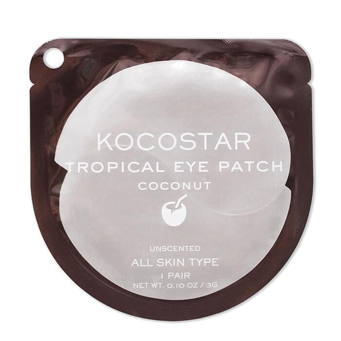 Купить Гидрогелевые патчи Kocostar Tropical Eye Patch Coconut (1 пара), Гидрогелевые патчи для кожи вокруг глаз с экстрактом кокоса, Южная Корея