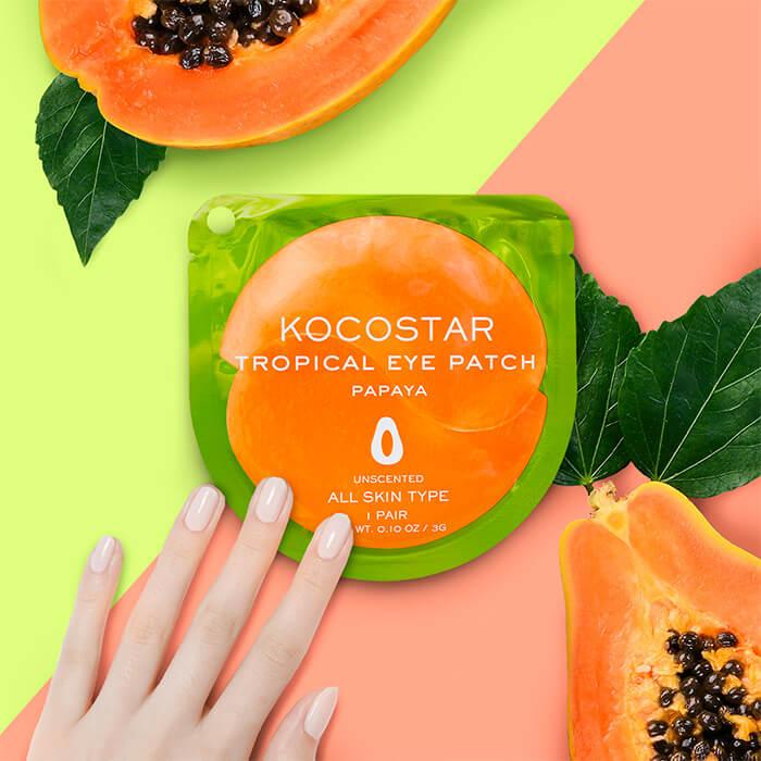 Гидрогелевые патчи Kocostar Tropical Eye Patch Papaya (1 пара)