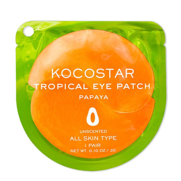 Купить Гидрогелевые патчи Kocostar Tropical Eye Patch Papaya (1 пара), Гидрогелевые патчи для кожи вокруг глаз с экстрактом папайи, Южная Корея