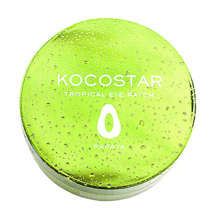Купить Гидрогелевые патчи Kocostar Tropical Eye Patch Papaya, Гидрогелевые патчи для кожи вокруг глаз с экстрактом папайи, Южная Корея