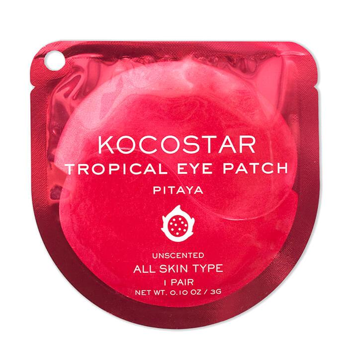 Купить Гидрогелевые патчи Kocostar Tropical Eye Patch Pitaya (1 пара), Гидрогелевые патчи для кожи вокруг глаз с экстрактом питайи, Южная Корея