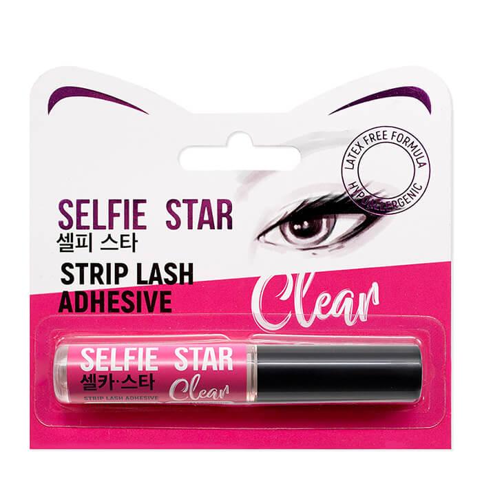 Клей для ресниц Selfie Star Strip Lash Adhesive Clear Прозрачный клей для накладных ресниц с кисточкой фото