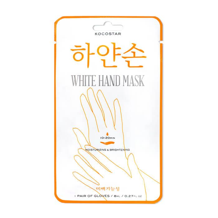 Купить Маска для рук Kocostar White Hand Mask, Восстанавливающая маска для увлажнения и сияния кожи рук, Южная Корея