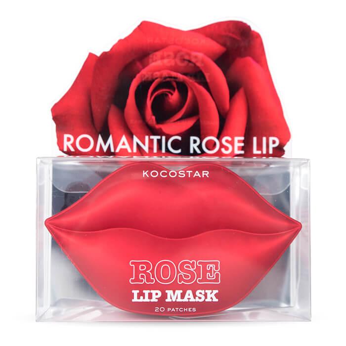 Патчи для губ Kocostar Lip Mask Rose - Revitalizing & Luscious Гидрогелеввые патчи для губ с натуральными растительными экстрактами фото