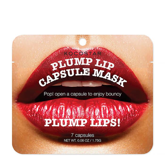 Сыворотка для губ Kocostar Plump Lip Capsule Mask Pouch (7 капсул), Капсульная сыворотка для увеличения объема губ, Южная Корея  - Купить
