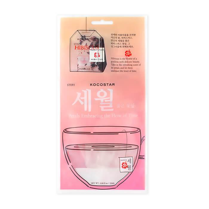 Купить Тканевая маска Kocostar Petals Embracing The Flow Of Time, Детокс-маска с Гибискусом для улучшения цвета лица, Южная Корея