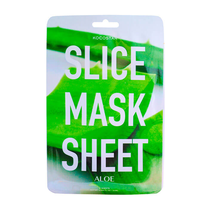 Купить Тканевая маска Kocostar Slice Mask Sheet - Aloe, Оригинальная слайс-маска для лица с экстрактом алоэ, Южная Корея