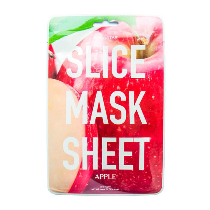 Купить Тканевая маска Kocostar Slice Mask Sheet - Apple, Оригинальная слайс-маска для лица с экстрактом яблока, Южная Корея