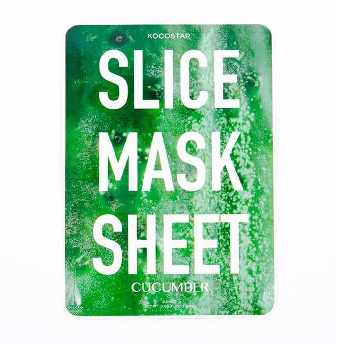 Купить Тканевая маска Kocostar Slice Mask Sheet - Cucumber, Оригинальная слайс-маска для лица с экстрактом огурца, Южная Корея