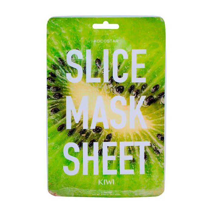 Купить Тканевая маска Kocostar Slice Mask Sheet - Kiwi, Оригинальная слайс-маска для лица с экстрактом киви, Южная Корея