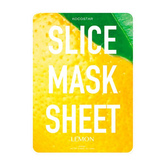 Купить Тканевая маска Kocostar Slice Mask Sheet - Lemon, Оригинальная слайс-маска для лица с экстрактом лимона, Южная Корея