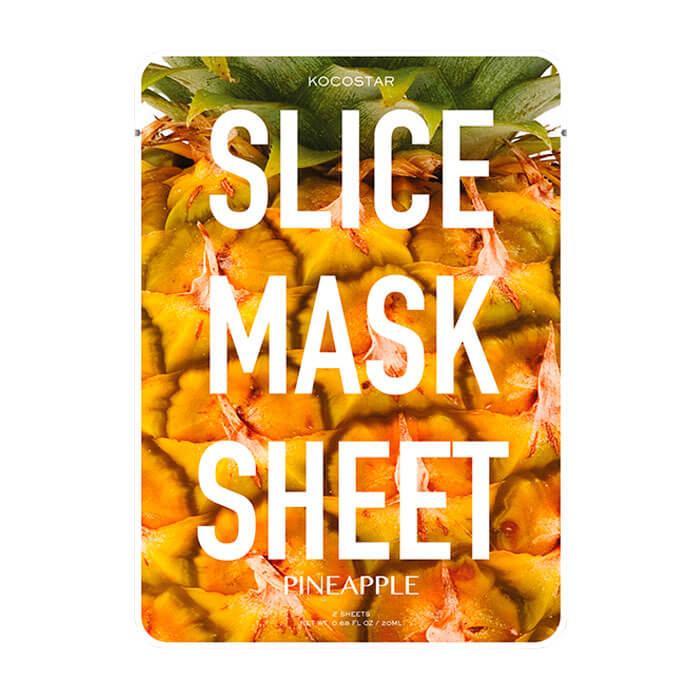 Купить Тканевая маска Kocostar Slice Mask Sheet - Pineapple, Оригинальная слайс-маска для лица с экстрактом ананаса, Южная Корея