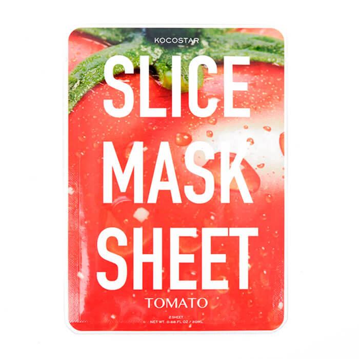 Купить Тканевая маска Kocostar Slice Mask Sheet - Tomato, Оригинальная слайс-маска для лица с экстрактом томата, Южная Корея