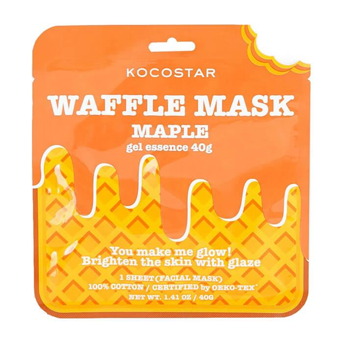 Купить Тканевая маска Kocostar Waffle Mask Maple, Омолаживающая вафельная маска для лица с экстрактом кленового сиропа, Южная Корея