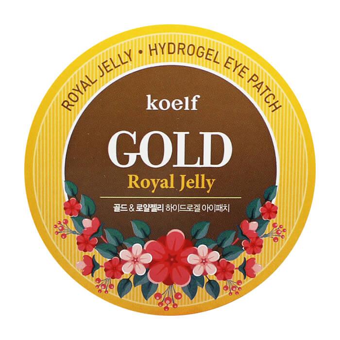 Купить Патчи для глаз Koelf Royal Jelly Hydrogel Eye Patch, Гидрогелевые патчи для век с частицами коллоидного золота и маточным молочком, Южная Корея
