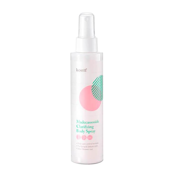 Купить Спрей для тела Koelf Madecassoside Clarifying Body Spray, Лечебный спрей с мадекасоссидом от раздражений на теле, Южная Корея