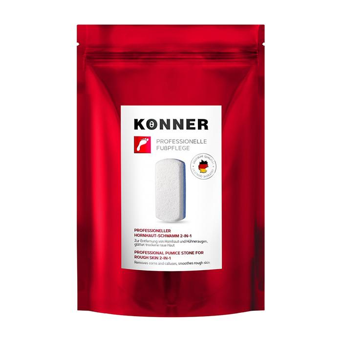 Купить Пемза для ног Konner Professional Pumice Stone For Rough Skin 2 in 1, Пемза с двухсторонней поверхностью для обработки огрубевшей кожи стоп, Германия