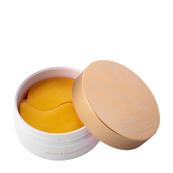 Купить Патчи для век Koreatida Peptide & Gold Hydrogel Eye Patch, Гидрогелевые патчи для глаз с пептидами и коллоидным золотом, Южная Корея