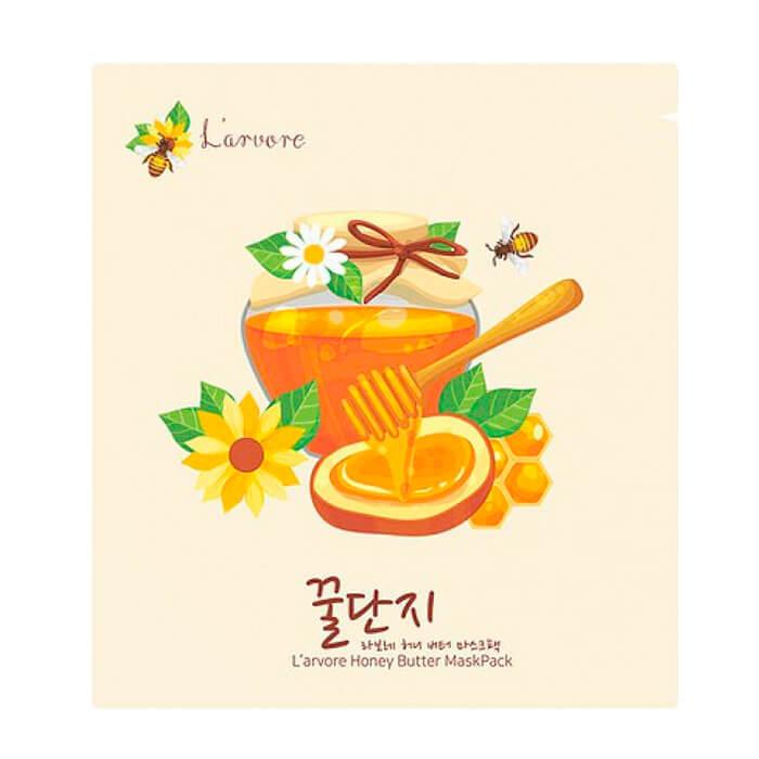 Купить Тканевая маска L'arvore Honey Butter Maskpack, Тканевая маска для лица с экстрактом мёда и пептидами, L'arvore, Южная Корея