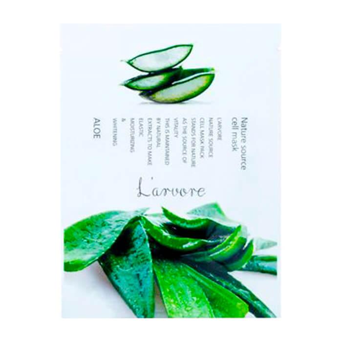 Купить Тканевая маска L'arvore Nature Source Cell Mask Aloe, Тканевая маска для лица с экстрактом алоэ вера, L'arvore, Южная Корея