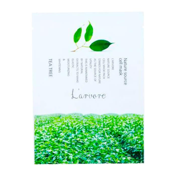Купить Тканевая маска L'arvore Nature Source Cell Mask Tea Tree, Тканевая маска для лица с экстрактом чайного дерева, L'arvore, Южная Корея
