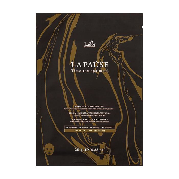 Купить Тканевая маска La'dor La-Pause Time Tox Spa Mask, Антивозрастная тканевая маска для интенсивного питания и увлажнения кожи лица, La'dor, Южная Корея
