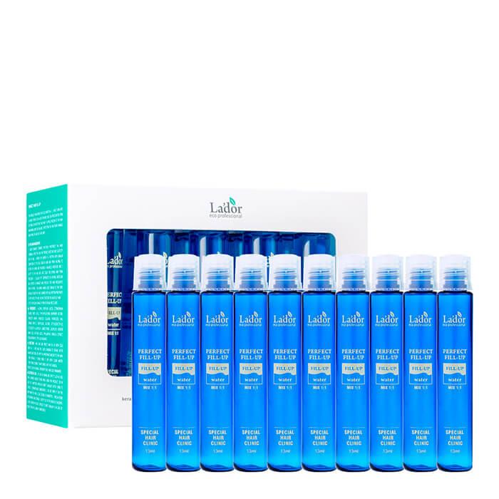 Купить Филлер для волос La'dor Perfect Hair Fill-Up (10 шт), Интенсивный филлер для восстановления волос с активным составом, Южная Корея