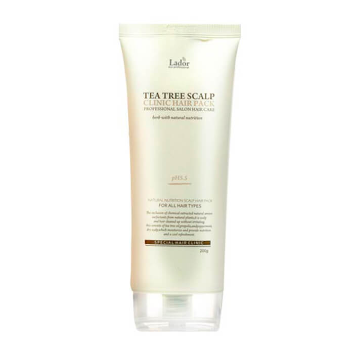 Купить Маска для кожи головы La'dor Tea Tree Scalp Clinic Hair Pack, Маска с экстрактом чайного дерева для очищения кожи головы, Южная Корея
