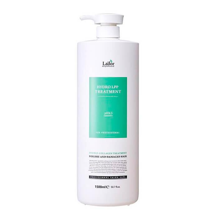Купить Маска для волос La'dor Eco Hydro LPP Treatment (1500 мл), Профессиональная маска для волос с гидролизованным коллагеном, Южная Корея