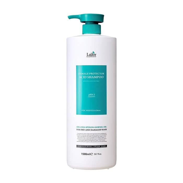 Шампунь для волос La'dor Damaged Protector Acid Shampoo (1500 мл) Слабощелочной шампунь для волос с протеинами шелка фото