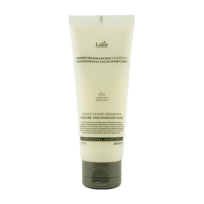 Купить Шампунь для волос La'dor Moisture Balancing Shampoo (100 мл), Увлажняющий шампунь для волос с растительными экстрактами, Южная Корея