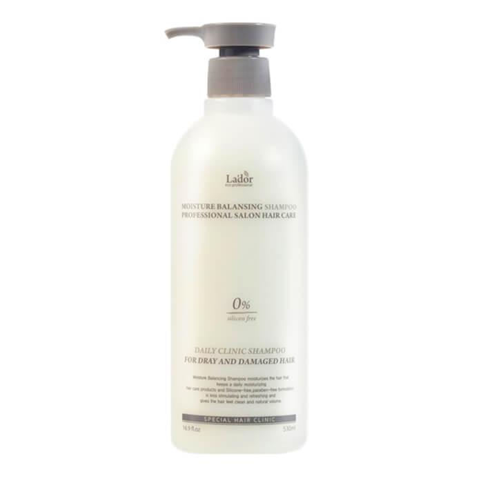 Купить Шампунь для волос La'dor Moisture Balancing Shampoo (530 мл), Увлажняющий шампунь для волос с растительными экстрактами, Южная Корея