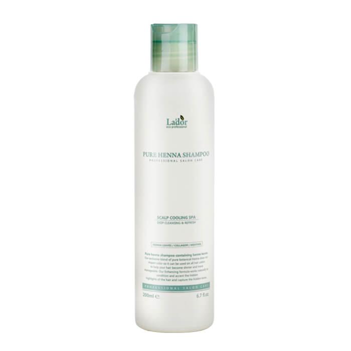 Шампунь для волос La'dor Pure Henna Shampoo Профессиональный укрепляющий шампунь для волос с хной и ментолом фото