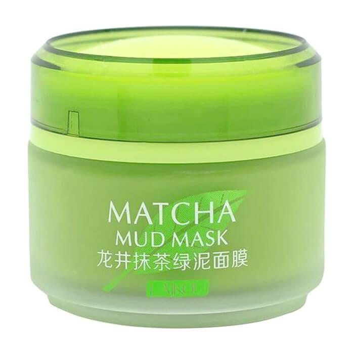 Купить Маска для лица Laikou Matcha Mud Mask, Очищающая маска на основе вулканического пепла с зелёным чаем матча, Китай